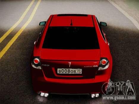 Pontiac G8 GXP 2009 for GTA San Andreas right view