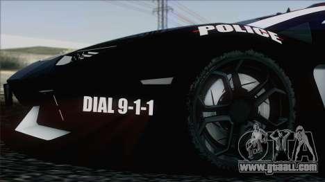 Lamborghini Aventador LP 700-4 Police for GTA San Andreas interior