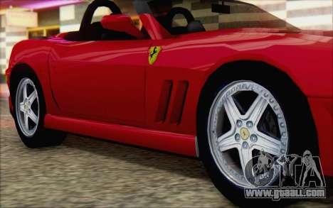 Ferrari 550 Barchetta for GTA San Andreas right view