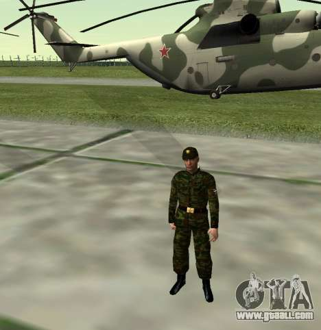 Fighter of the Russian Army v 2.0 for GTA San Andreas fifth screenshot