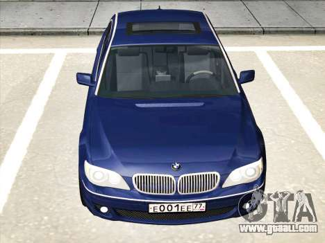 BMW 760Li for GTA San Andreas back left view