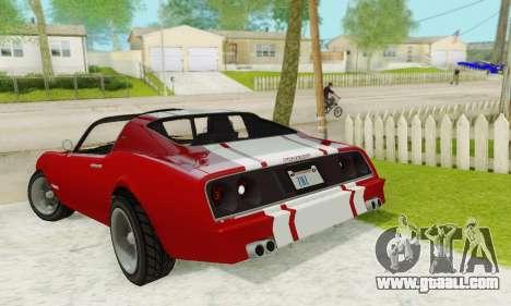Imponte Phoenix из GTA 5 for GTA San Andreas side view