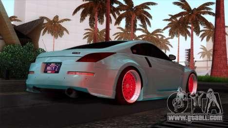 Nissan 350Z Minty Fresh for GTA San Andreas interior