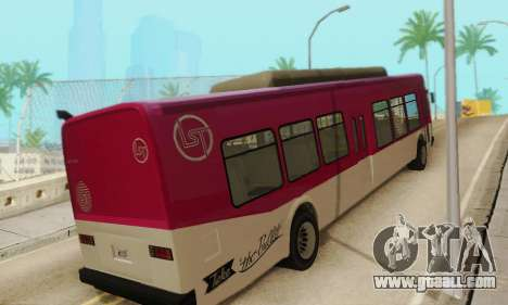 Transit Bus из GTA 5 for GTA San Andreas right view