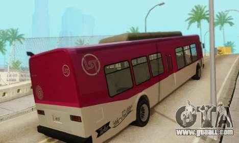 Transit Bus из GTA 5 for GTA San Andreas right view