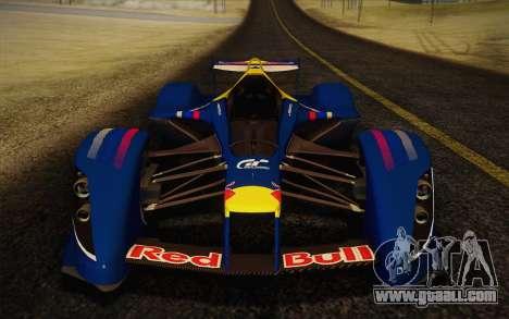 GT Red Bull X10 Sebastian Vettel for GTA San Andreas back left view