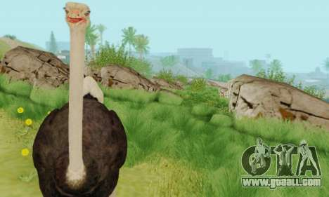 Ostrich From Goat Simulator for GTA San Andreas forth screenshot