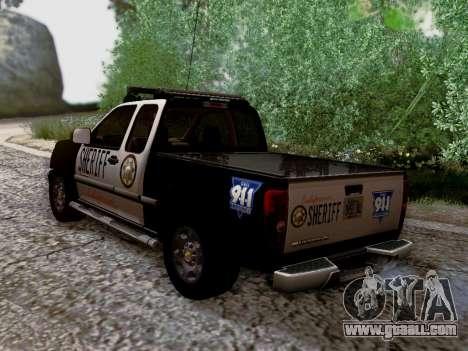 Chevrolet Colorado Sheriff for GTA San Andreas interior