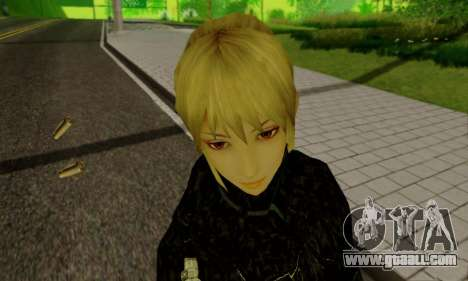 The blonde girl in black clothes for GTA San Andreas ninth screenshot