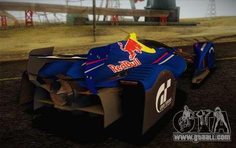 GT Red Bull X10 Sebastian Vettel for GTA San Andreas back view