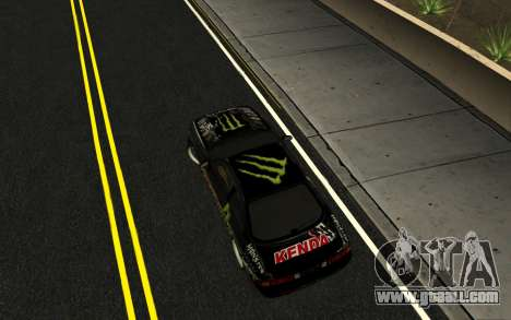 Nissan Silvia S14 Monster Energy KENDA Tire for GTA San Andreas right view