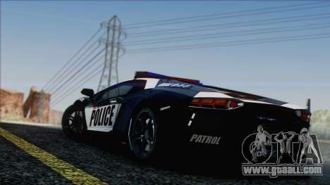 Lamborghini Aventador LP 700-4 Police for GTA San Andreas engine