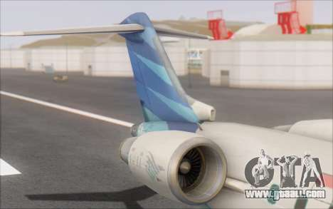 Garuda Indonesia Bombardier CRJ-700 for GTA San Andreas back left view