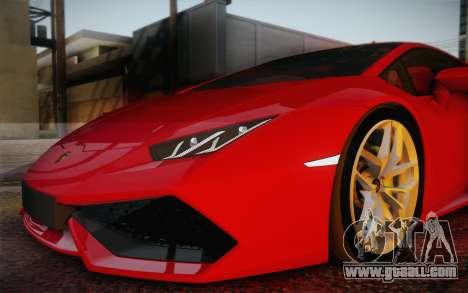 Lamborghini Huracan 2013 for GTA San Andreas wheels