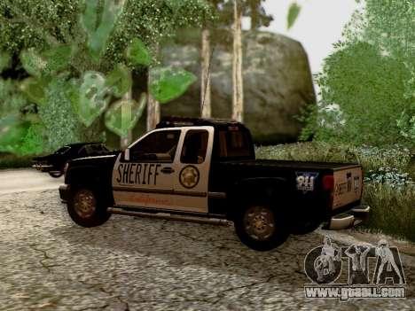 Chevrolet Colorado Sheriff for GTA San Andreas left view