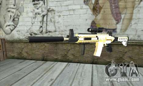 Golden M4A1 for GTA San Andreas