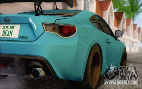 Scion FR-S 2013 Beam for GTA San Andreas back view