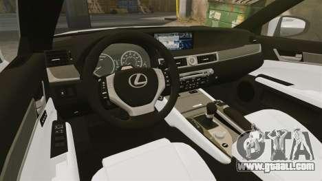 Lexus GS 300h for GTA 4 inner view