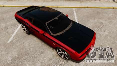 Dodge Challenger SRT8 2012 for GTA 4 bottom view
