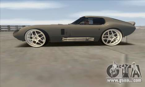 Shelby Cobra Daytona for GTA San Andreas back left view