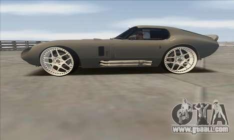 Shelby Cobra Daytona for GTA San Andreas back left view