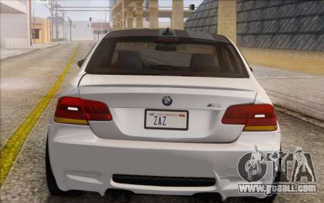 BMW M3 E92 2008 for GTA San Andreas inner view