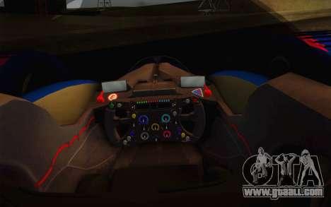 GT Red Bull X10 Sebastian Vettel for GTA San Andreas inner view