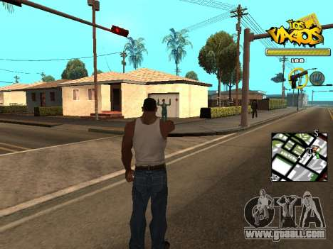 Vagos Gang HUD for GTA San Andreas second screenshot
