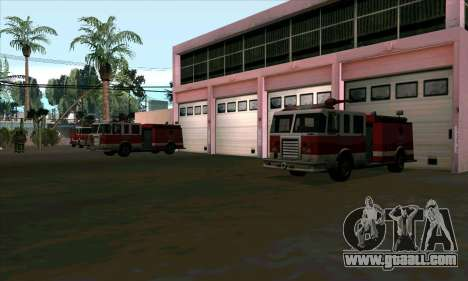 Realistic fire station in Las Venturas for GTA San Andreas third screenshot