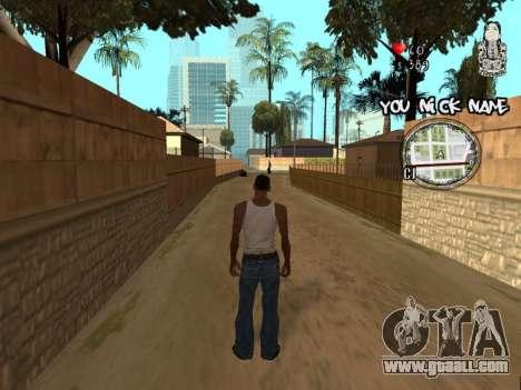 C-HUD by San4os for GTA San Andreas second screenshot
