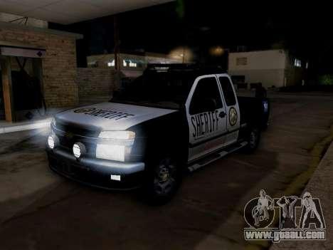 Chevrolet Colorado Sheriff for GTA San Andreas engine