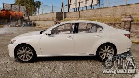 Lexus GS 300h for GTA 4 left view