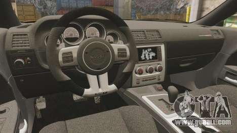 Dodge Challenger SRT8 2012 for GTA 4 inner view