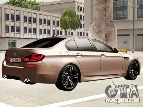 BMW M5 F10 2012 for GTA San Andreas right view