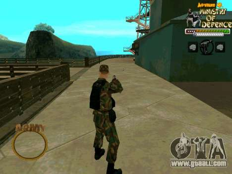 C-HUD Army for GTA San Andreas third screenshot
