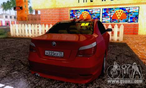 BMW 530xd for GTA San Andreas back left view