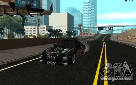 Nissan Silvia S14 Monster Energy KENDA Tire for GTA San Andreas