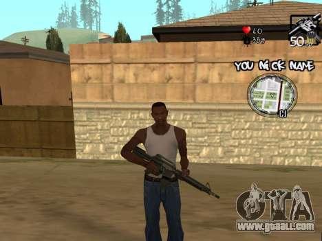 C-HUD by San4os for GTA San Andreas third screenshot