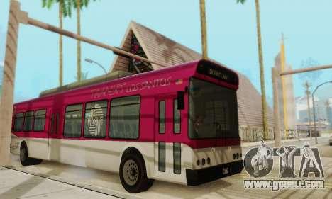 Transit Bus из GTA 5 for GTA San Andreas left view