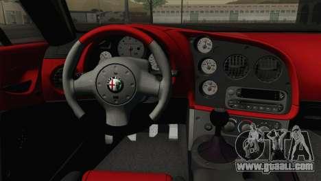 Alfa Romeo Zagato TZ3 2012 for GTA San Andreas back view