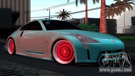Nissan 350Z Minty Fresh for GTA San Andreas bottom view