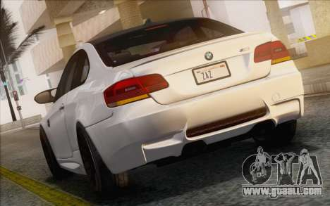 BMW M3 E92 2008 for GTA San Andreas back left view