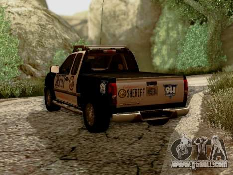 Chevrolet Colorado Sheriff for GTA San Andreas back left view