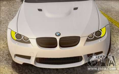 BMW M3 E92 2008 for GTA San Andreas upper view