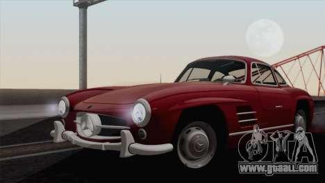 Mercedes-Benz 300SL 1955 for GTA San Andreas back left view