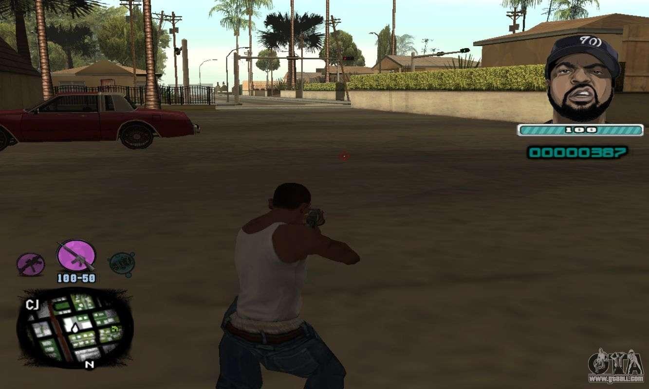Ice Cube Gta sa C-hud Ice Cube For Gta San