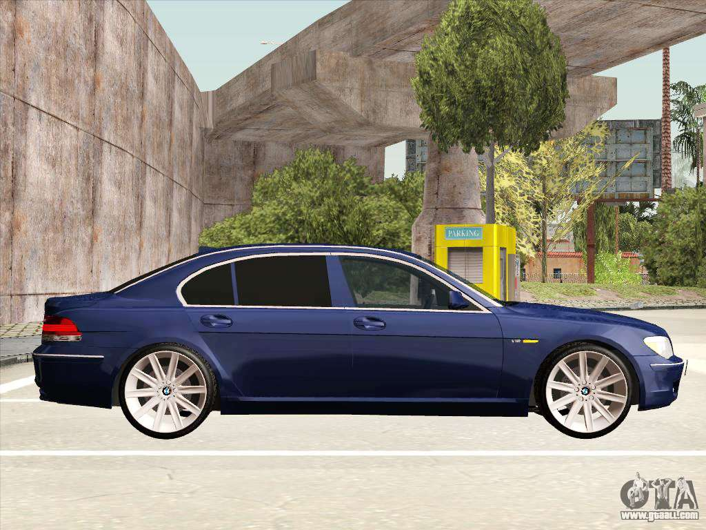 BMW 760Li For GTA San Andreas Inner View
