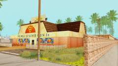 The new texture pizzerias and amenities at Delude for GTA San Andreas