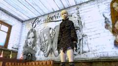 The blonde girl in black clothes for GTA San Andreas