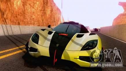 Koenigsegg One 2014 for GTA San Andreas